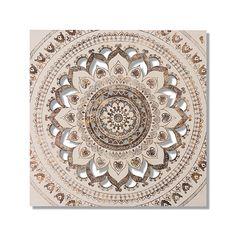 Home Republic - Mandala Artwork Natural – Homewares Wall Art & Mirrors – Adairs online  ADAIRS $100