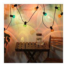SOLVINDEN LED ljusslinga med 12 ljuskällor IKEA Skapar en dramatisk effekt i mörkret.