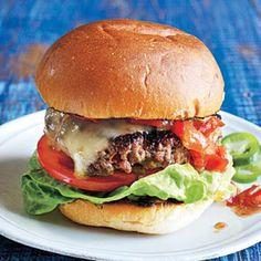 Southwest Salsa Burgers | CookingLight.com