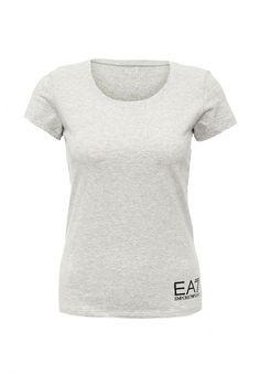 Футболка EA7  Футболка EA7. Цвет: серый.  Сезон: Весна-лето 2016. Одежда, обувь и аксессуары/Женская одежда/Одежда/Футболки и топы