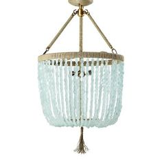 Seychelles Chandelier>>> Made from sea glass and made to order. I love this.