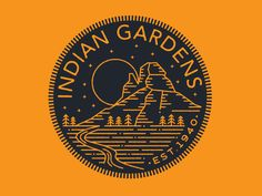 Indian Garden Badge by Brian Steely on Dribbble: https://dribbble.com/shots/1690939-Indian-Garden-Badge