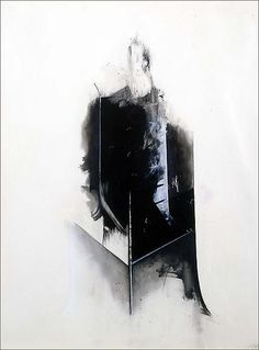 'Black Guard' (1977) by American artist Jay DeFeo (1929-1989). Mixed media on paper, 39 x 29 in. via Michael Rosenfeld Art