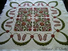 Beautiful quilting from Addicted To Quilts.