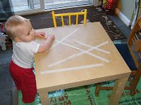 Table Top Tape Removal from The Stay-at-Home-Mom Survival Guide: Toddler Activities