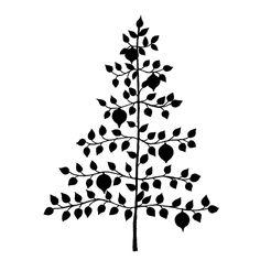 Penny Black Rubber Stamp, Adorned Tree