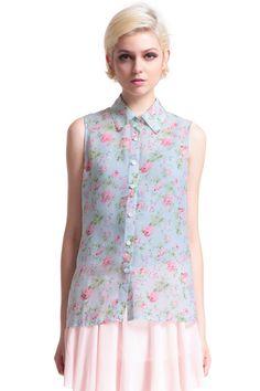 ROMWE | Little Flower Print Shirt, The Latest Street Fashion #ROMWE