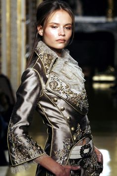 Zuhair Murad Haute Couture - Spring/Summer 2007 - more of a victorian look but colors are amazing anyway, just an inspiration for me Zuhair Murad, Fashion Details, Love Fashion, High Fashion, Womens Fashion, Fashion Design, Couture Details, Fringe Fashion, Moda Steampunk