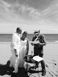 A marriage declaration on the beach. Photograph by Cherry Thatcher