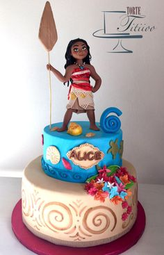 Moana - Cake by Torte Titiioo Moana Themed Party, Moana Party, Bolo Moana, Disney Cakes, 6th Birthday Parties, Fourth Birthday, Luau Party, Cute Cakes, Themed Cakes