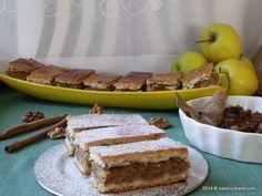 Prajitura cu mere reteta bunicii   Savori Urbane Romanian Food, Romanian Recipes, Tiramisu, Deserts, Pie, Sweets, Cooking, Ethnic Recipes, Projects