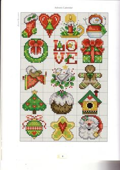 Christmas ornaments-just in case I start counted cross stitching again! Tiny Cross Stitch, Xmas Cross Stitch, Cross Stitch Needles, Cross Stitch Cards, Counted Cross Stitch Patterns, Cross Stitch Designs, Cross Stitching, Cross Stitch Embroidery, Cross Stitch Christmas Ornaments