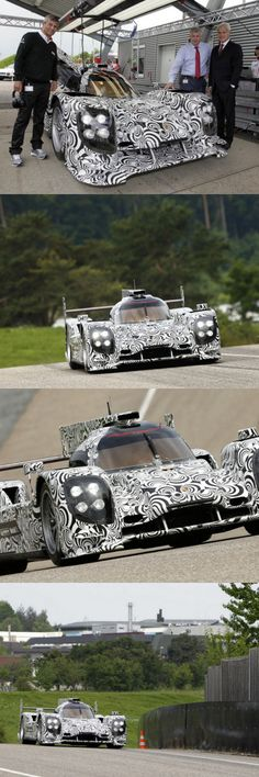 The new Porsche LMP1 sports prototype, which will compete in the sports car World Endurance Championship (WEC) and in the 24 Hours of Le Mans from 2014, successfully completed its first rollout today on the Porsche test track in Weissach. Before the eyes of some board members of Porsche AG, Porsche works driver Timo Bernhard took his new 'wheels' through its initial function check.
