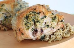 Quinoa, Feta, and Spinach-Stuffed Chicken Breasts — Punchfork