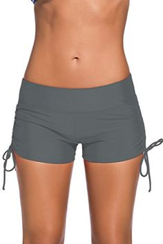b3b08c97ae Full bottom coverage to match all your favorite swim tops. This Adjustable  Ties Swim Bottom Shorts is of durability and excellent elasticity; ...