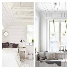 Whether horizontal or vertical, I love planks/pallet wood painted white. If horizontally placed, your room looks wider. If placed vertically, the room will look taller.