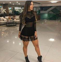 Transparência no look - Transparência no look, moda Brasil Hot Outfits, Trendy Outfits, Dress Outfits, Girl Outfits, Fashion Dresses, Mode Rock, Music Festival Outfits, Mode Hijab, Rompers Women