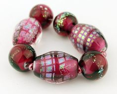 Handmade Lampwork Glass Bead Set by StoneDesignsbySheila on Etsy
