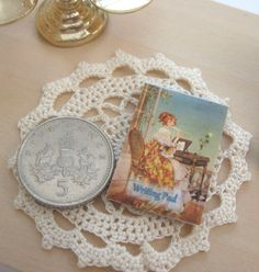 dollhouse writing pad vintage themed 12th scale miniature by Rainbowminiatures…