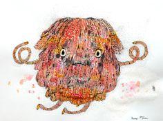 original drawing cute creature