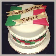 Italian themed cake Birthday Cake For Mom, 60th Birthday Party, Bon Voyage Party, Italian Party, Pizza Party, Themed Cakes, Cake Ideas, Chloe, Cake Decorating