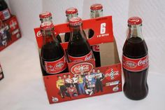 Coca Cola 2002 NASCAR Racing team FULL $15 Nascar Racing, Racing Team, Jimmy Johnson, Bottles For Sale, Coke, Beer Bottle, Coca Cola, Canning, Drinks