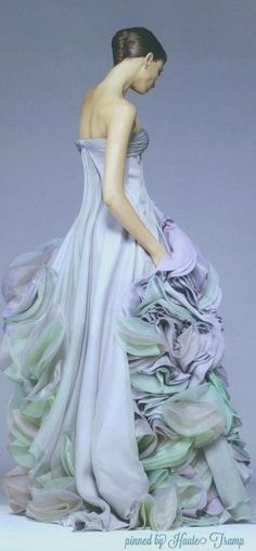 Atelier Versace Gown, Couture Ruffled Dreams ht