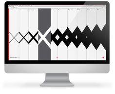 FF Mark Microsite by FontFont , via Behance