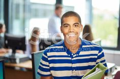 Student in classroom royalty-free stock photo