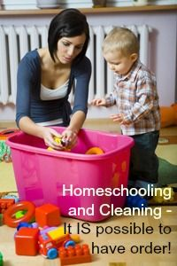 How to homeschool and keep a reasonably clean house too . . .