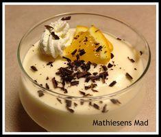 Appelsinfromage - Mathiesens Mad Kinds Of Desserts, Sweet Desserts, Mousse, Frozen Yoghurt, Danish Food, Pudding Desserts, Cake Cookies, Afternoon Tea, Delish