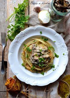 Basia w kuchni: Makaron z sosem z leśnych suszonych grzybów - prze...