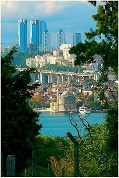 Istanbul, Turkey. The Bosphorus Bridge