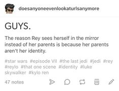 Exactly! Rey is the one who is important in this story, not her parentage. TLJ