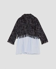 Image 8 of TWEED TOP WITH CONTRASTING POPLIN from Zara