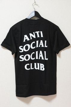 ANTI SOCIAL SOCIAL CLUB Logo Tee BLACK ¥8,000(TAX IN)