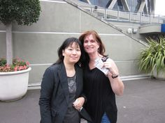 Me & Rie before the concert. She flew in from Japan! Awesome