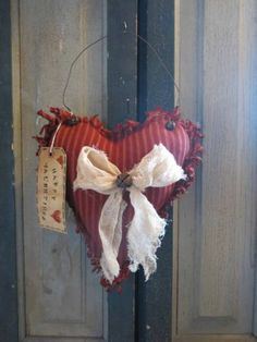 sew heart, then clip to seams&tie knot