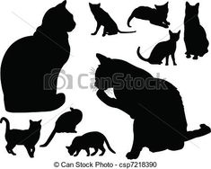 Vector - cat collection - vector - stock illustration, royalty free illustrations, stock clip art icon, stock clipart icons, logo, line art, EPS picture, pictures, graphic, graphics, drawing, drawings, vector image, artwork, EPS vector art