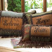 Crows Nest Western Inspired Christmas pillows