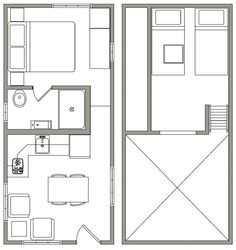 Uinta Floor Plan - Open Trail Homes 12 x 20. Would need to thin it down a bit.