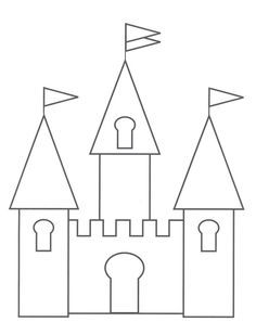 Princess Castle Page For Quiet Book -Castle Drawing Template
