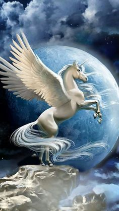 See wallpapers and ringtones from DjIcio at Zedge now. Unicornios Wallpaper, Horse Wallpaper, Unicorn Fantasy, Unicorn Art, Beautiful Unicorn, Beautiful Fairies, Beautiful Horse Pictures, Beautiful Horses, Mythical Creatures Art