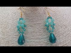 Tutorial: fire polish drop earrings / Orecchini goccia in mezzo cristallo - YouTube