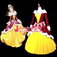 Free Shipping Disney Grimms' Fairy Tales Belle Princess Dress Cosplay Christmas…