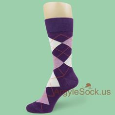 Dark Purple w/ Light Heather Lavender White Argyle Socks for Man Wedding Day Gifts, Wedding Stuff, Groomsmen Socks, Argyle Socks, Dress Socks, Dark Purple, Real Life, Friendship, Lavender