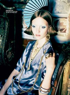 Editorial | 'Orient Excess' Codie Young by Nicole Bentley for Vogue Australia April 2011 - Fashion Copious