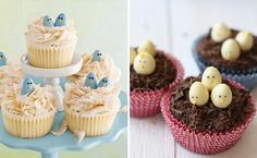 cupcakes decorados con pajaritos