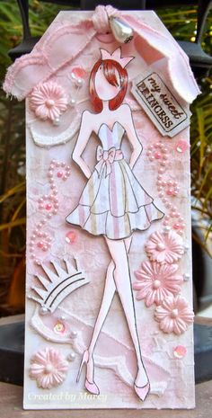 Loves Rubberstamps Blog: WOW Wednesday - Featuring Marcy - Prima Doll With Strapless Dress