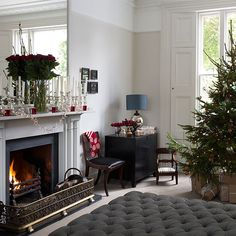 Loving the style - especially the mantelpiece decorations.